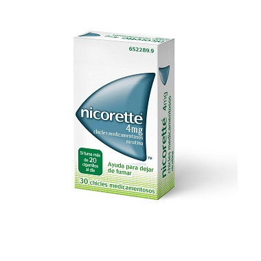Imagen del producto NICORETTE 4 MG CHICLES MEDICAMENTOSOS 30 CHICLES