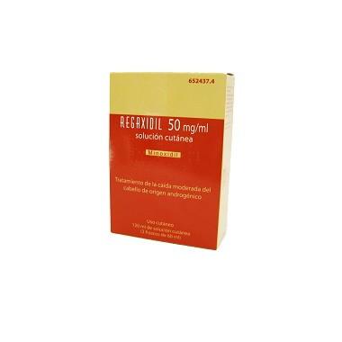 Imagen del producto REGAXIDIL 50 mg/ml SOLUCION CUTANEA , 2 frascos de 60 ml