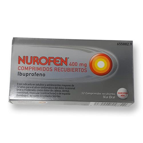 Imagen del producto NUROFEN 400 MG COMPRIMIDOS RECUBIERTOS, 12 COMPRIMIDOS
