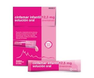 Imagen del producto CINFAMAR INFANTIL 12,5 MG SOLUCIÓN ORAL , 12 ENVASES UNIDOSIS