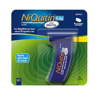 Imagen del producto NIQUITIN 4 MG COMPRIMIDOS PARA CHUPAR SABOR MENTA, 20 COMPRIMIDOS