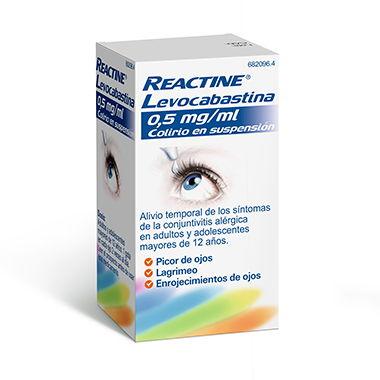 Imagen del producto REACTINE LEVOCABASTINA 0,5 MG/ML COLIRIO EN SUSPENSIÓN 4 ml