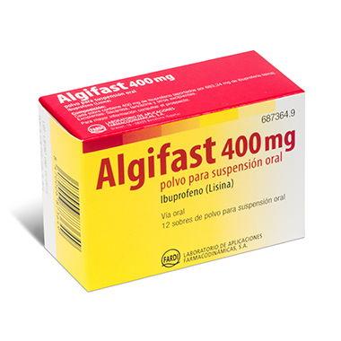 Imagen del producto ALGIFAST 400 MG POLVO 12 SOBRES