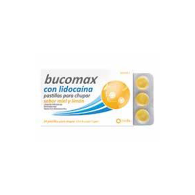 Imagen del producto BUCOMAX LIDOCAINA SABOR LIMÓN 8 PASTILLAS PARA CHUPAR