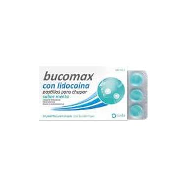 Imagen del producto BUCOMAX LIDOCAINA SABOR MENTA 24 PASTILLAS PARA CHUPAR