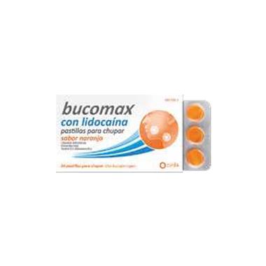 Imagen del producto BUCOMAX LIDOCAINA SABOR NARANJA 8 PASTILLAS PARA CHUPAR