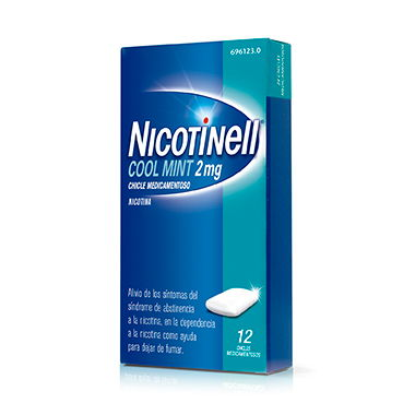 Imagen del producto NICOTINELL COOL MINT 2 MG 12 CHICLES RECUBIERTOS