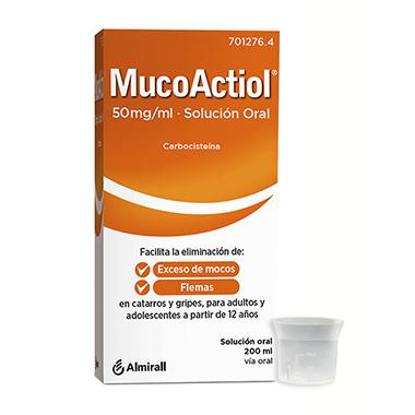 Imagen del producto MUCOACTIOL 50 MG/ML SOLUCION ORAL 200 ML