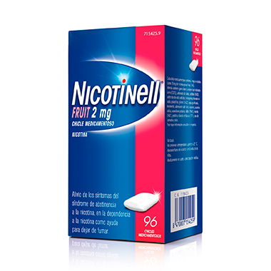 Imagen del producto NICOTINELL FRUIT 2 MG 96 CHICLES MEDICAMENTOSOS