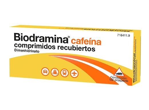 Imagen del producto BIODRAMINA CAFEÍNA 12 COMPRIMIDOS