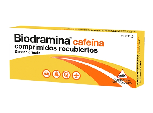 Imagen del producto BIODRAMINA CAFEÍNA 4 COMPRIMIDOS