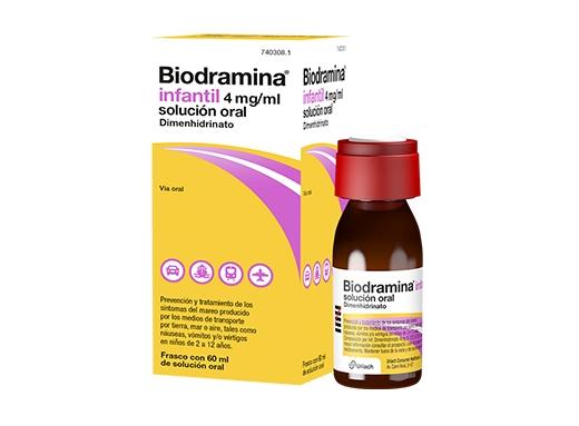Imagen del producto BIODRAMINA INFANTIL 4 MG/ML SOLUCIÓN ORAL 60 ML