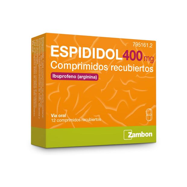 Imagen del producto ESPIDIDOL 400 MG 12 COMPRIMIDOS RECUBIERTOS