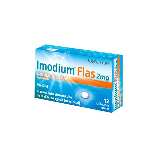 Imagen del producto IMODIUM FLAS 2 MG 12 LIOFILIZADO ORAL